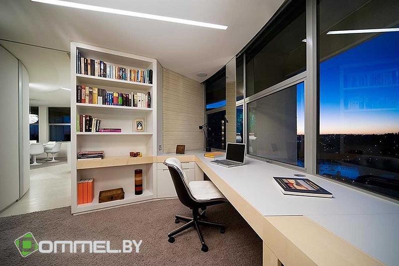 Домашний кабинет в современном стиле - Светлые тона (красивый вид)