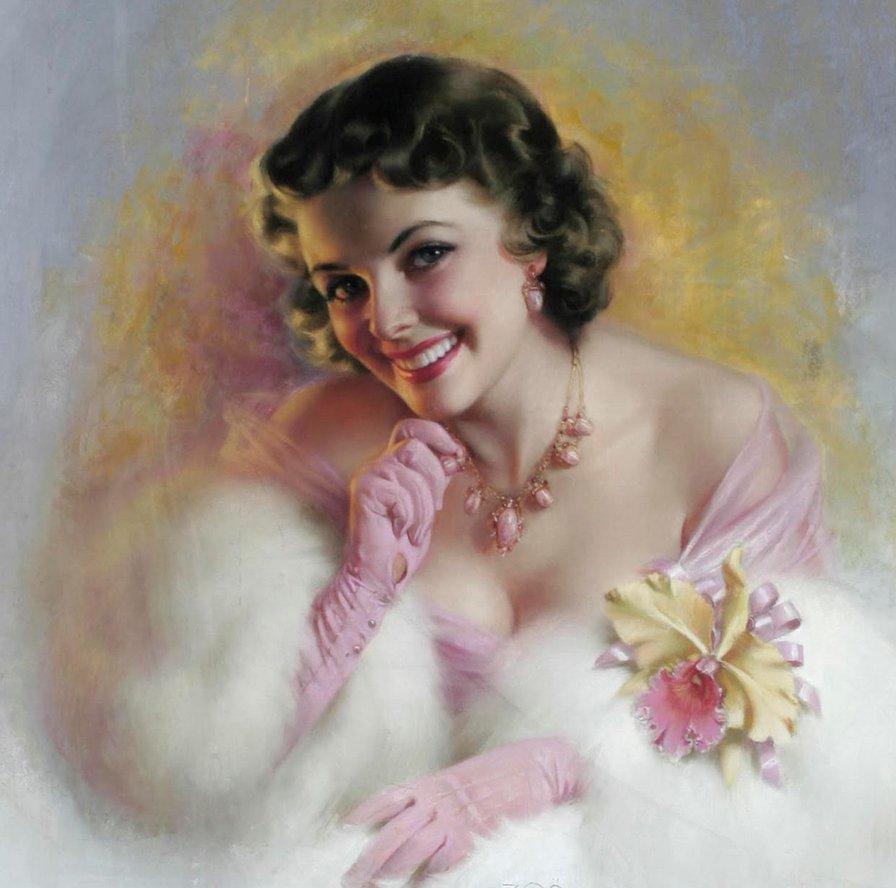 Открытки, открытка для современной женщины