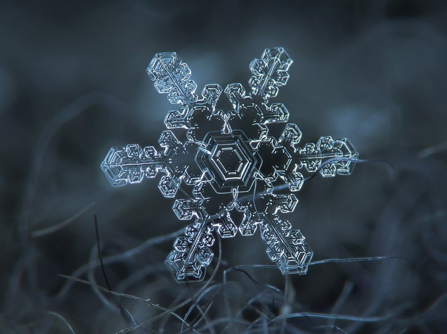 Снежинки и кристаллы снега