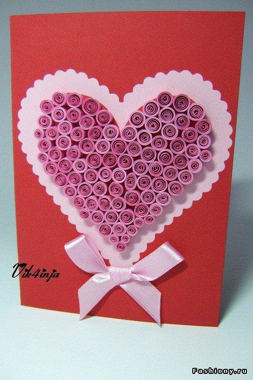 Открытка сердечко своими руками из бумаги для мамы, смешные