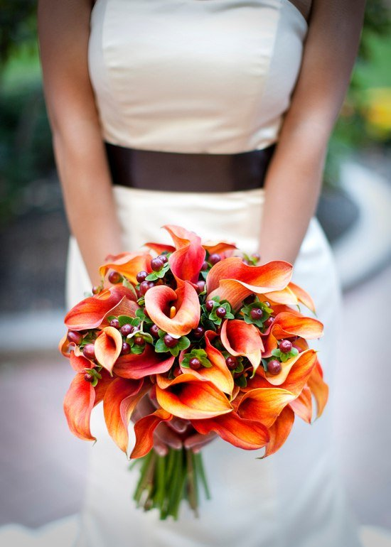 Доставки, свадебный букет из оранжевых каллы цена киев