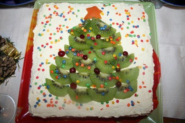 как украсить новогодний торт в домашних условиях фото