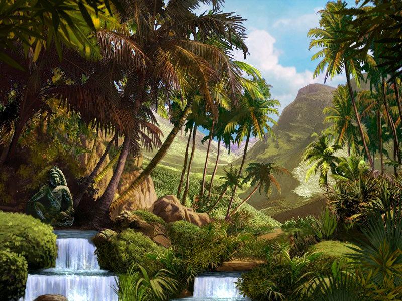 Днем, джунгли картинка анимация