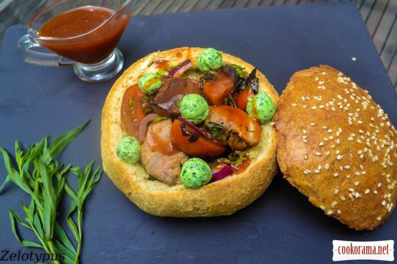 Салат Свежесть с курицей  пошаговый рецепт с фото на
