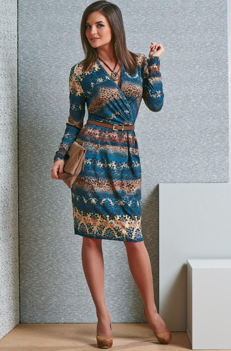 Платье фото трикотаж цветной