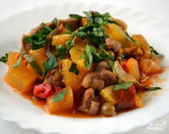 Рецепты рагу свинины фото овощами