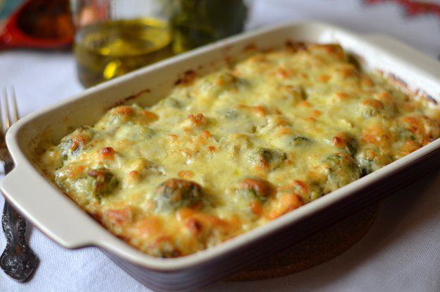 капуста брюссельская запеченная с сыром