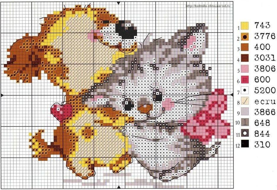 Схемы вышивания крестиком картинки, картинки дружбы