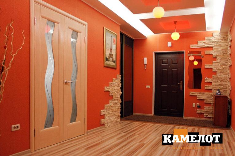 Варианты и процесс поклейки декоративного камня в коридоре. Преобразите свою входную дверь за 1 день!
