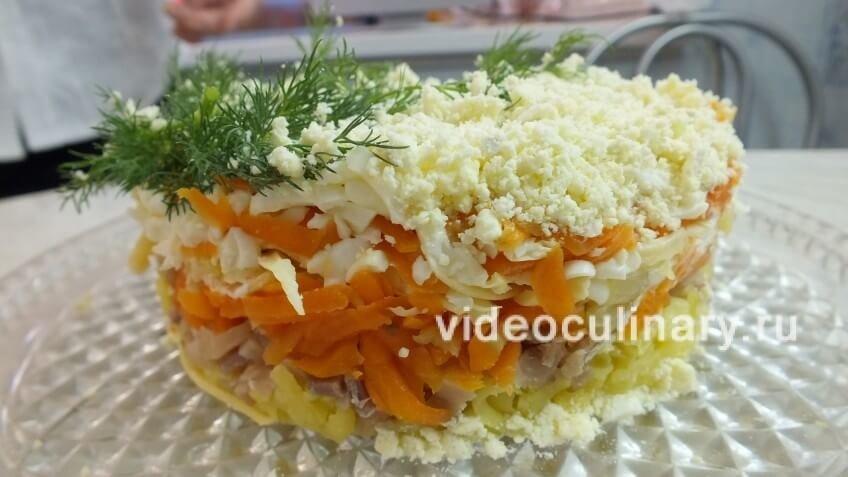 Салат с консервой горбуши мимоза
