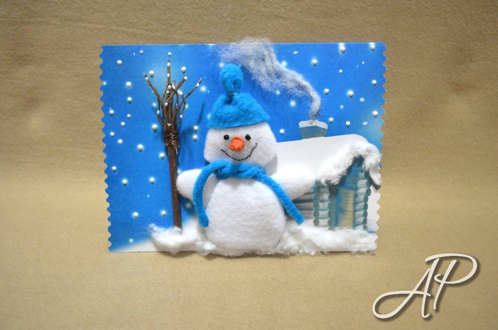 Новогодняя открытка своими руками с детьми 3-4, смешно
