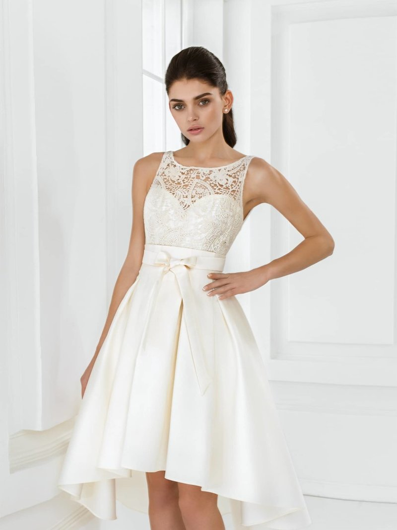Короткие свадебные платья 2015-2016 года