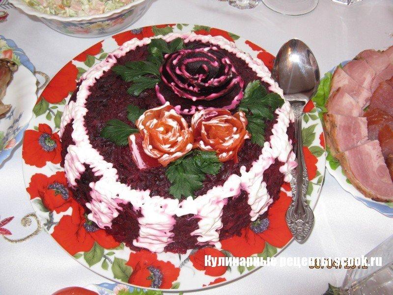Как украсить салаты в фотографиях сельдб под шубой