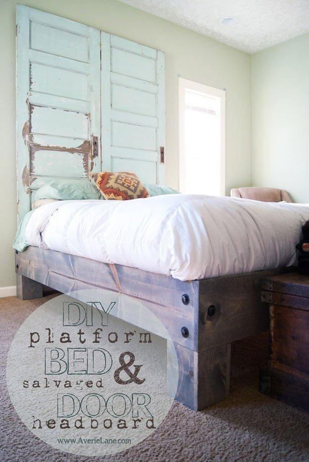 Кровать из подручных средств
