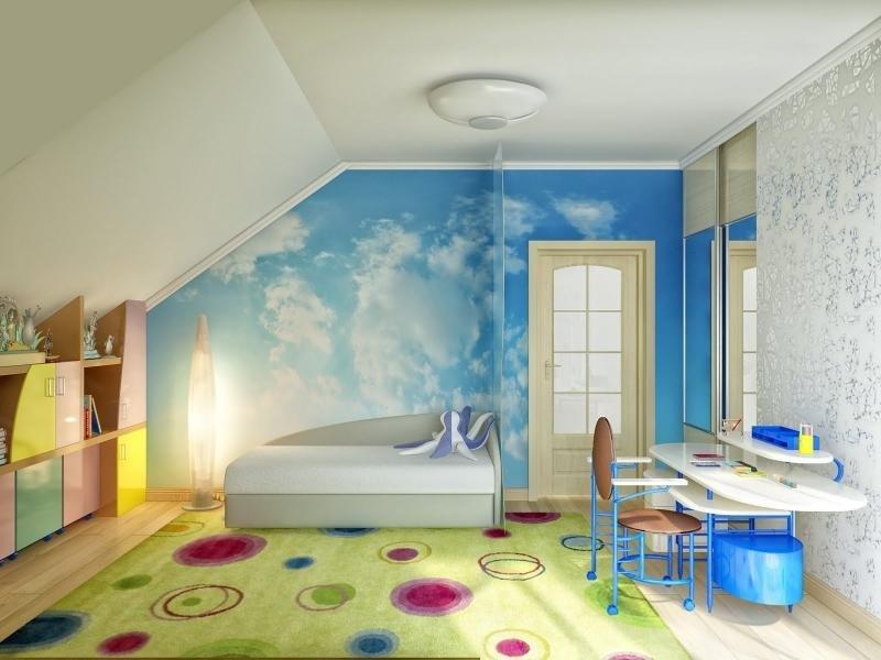 наименование: детская комната со скошенным потолком интерьер великого митця Тараса