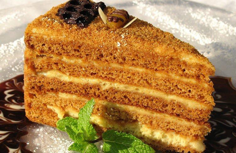 Торт рыжик с заварным кремом пошаговый рецепт