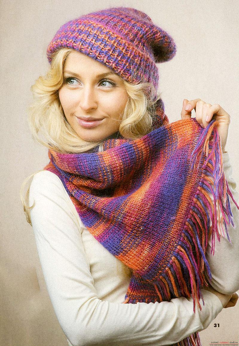схемы для вязания шарфа из травки