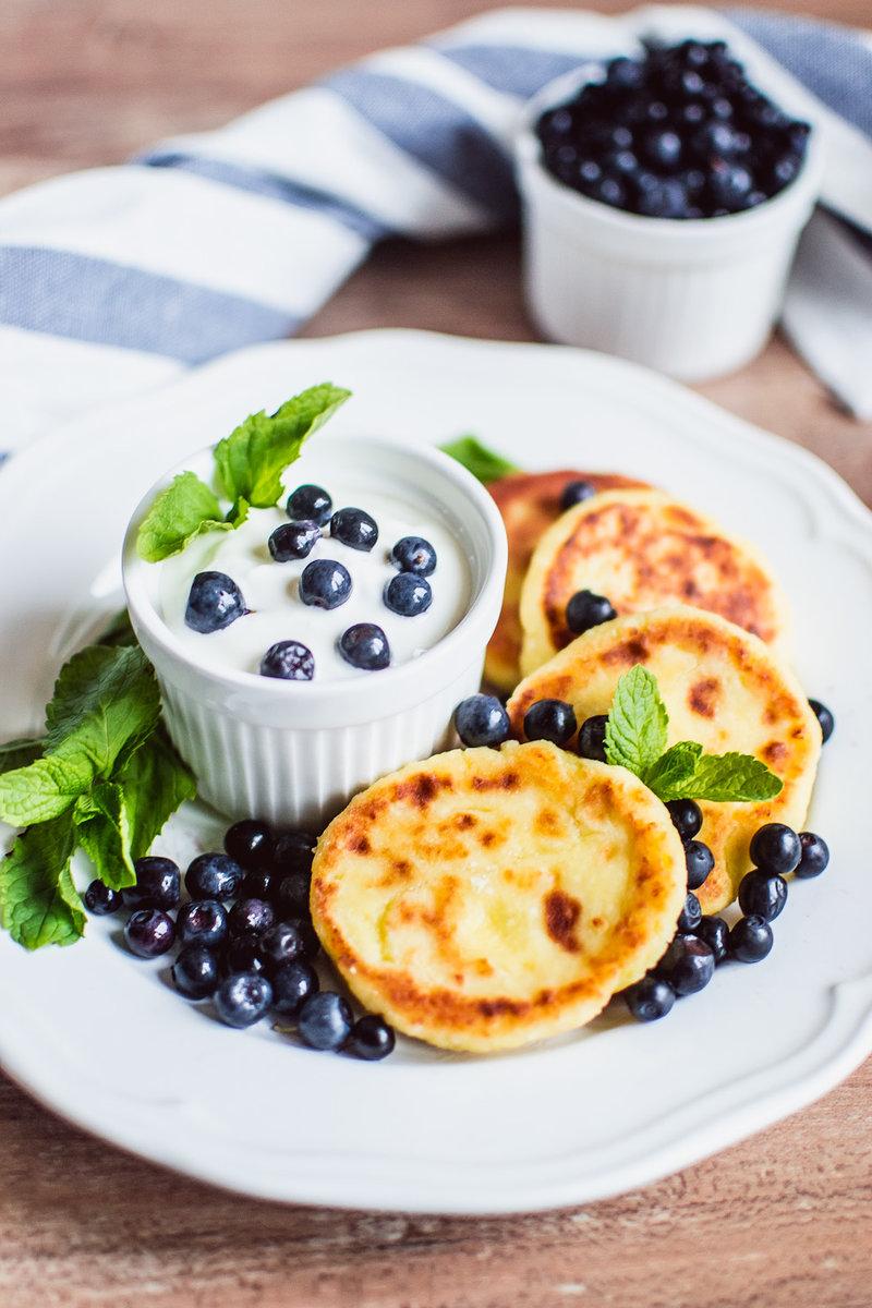Сырники с черникой - kirilife