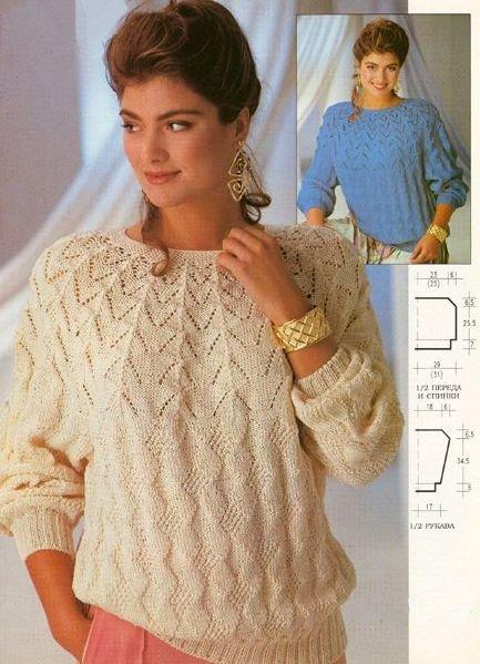 Вязание описание кофт свитеров спицами 235