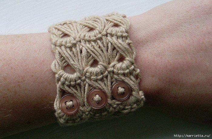 Вязание браслета крючком фото