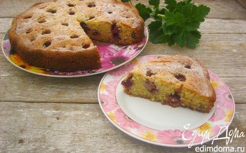 Сметанный пирог с клубникой   Кулинарные рецепты от «Едим дома!»