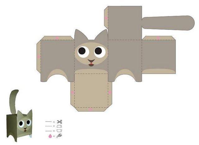 Выкройки объемных поделок из бумаги