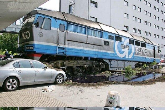 Авария поезда в Эстонии