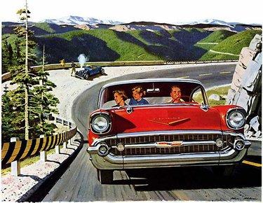 рекламные фото ретро машин
