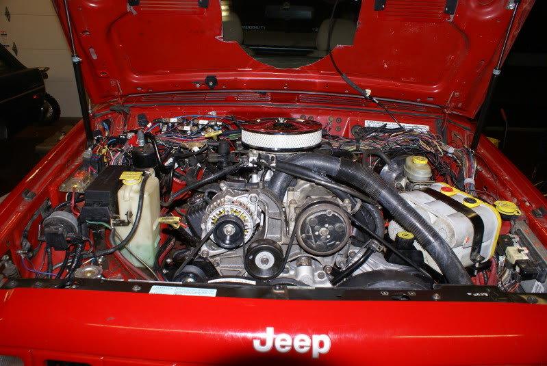 Cherokee XJ с двигателем 5.2 Magnum