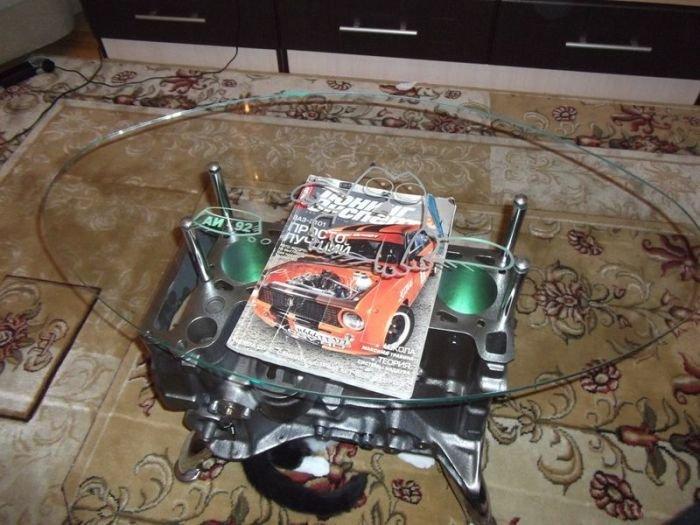 Делаем журнальный столик из блока цилиндров двигателя (20 фото) » Триникси