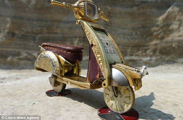 Дэн Таненбаум и его необычные мотоциклы из деталей часов | Мир современного искусства