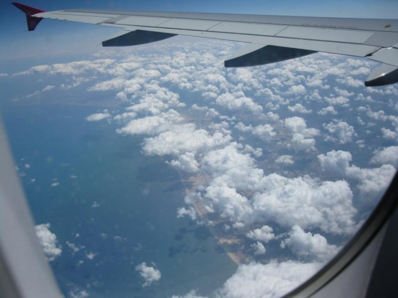 фото из окна самолета.
