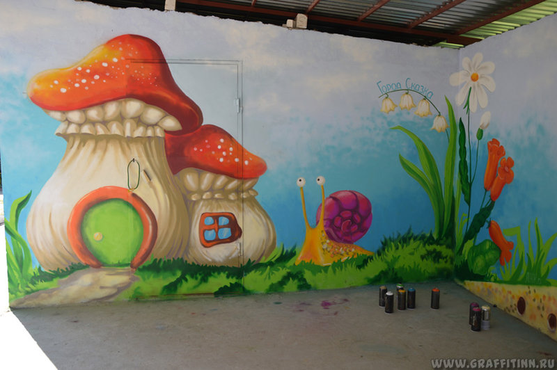 Город сказка в июле 2014   Нижегородская федерация граффити