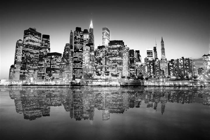 Каталог фотообоев. Черно-белые фото городов