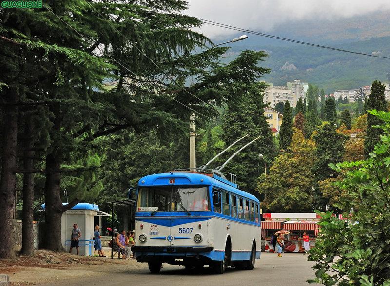 Крымский троллейбус, троллейбус Škoda 9Tr24 № 5607