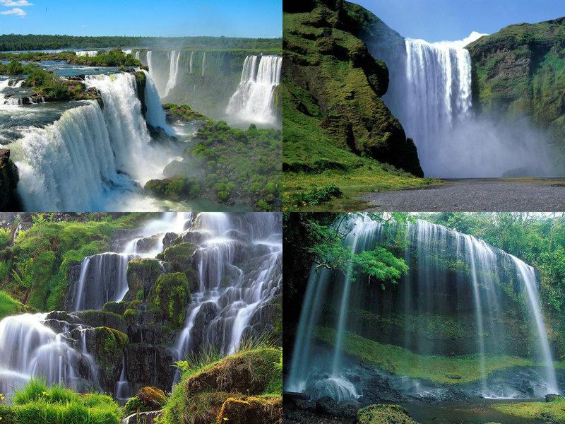 Постеры водопадов мира