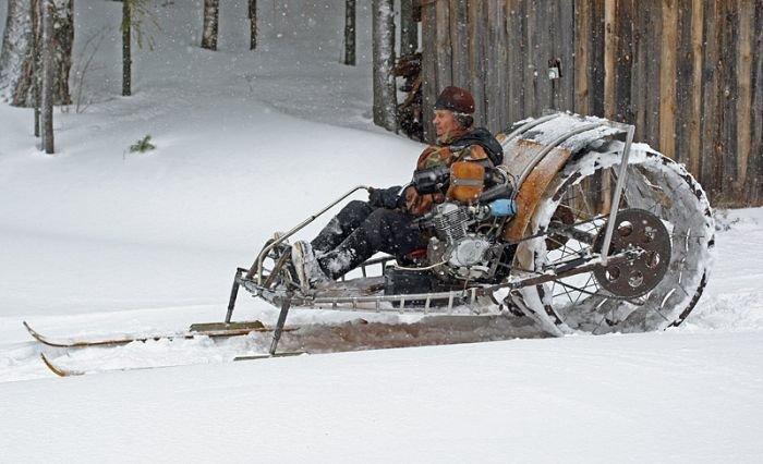 Русские самодельные снегоходы (12 фото) » Триникси