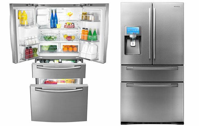 Samsung выпускает супер-холодильник с монитором и веб-приложениями!