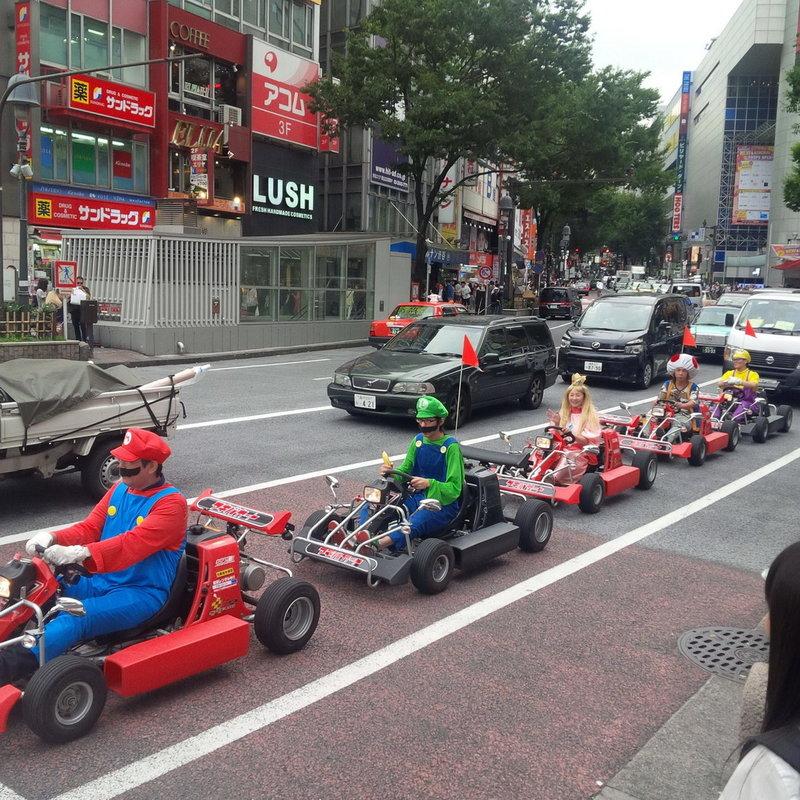 Шуточный парад в Японии