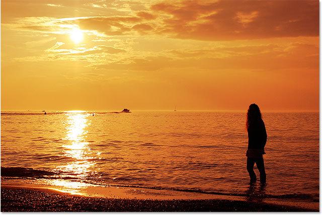 Теплый золотой закат на фото - Обработка фотографий - Уроки фотошопа - PixelBox.Ru