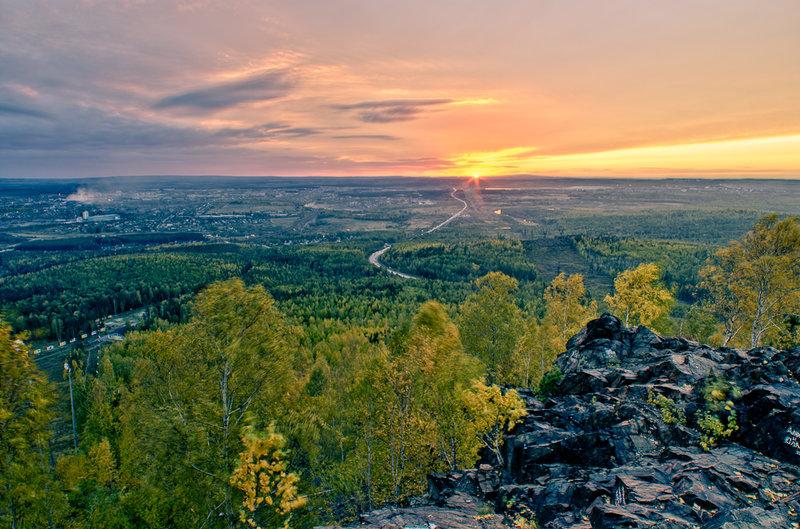 Вид с горы Волчиха