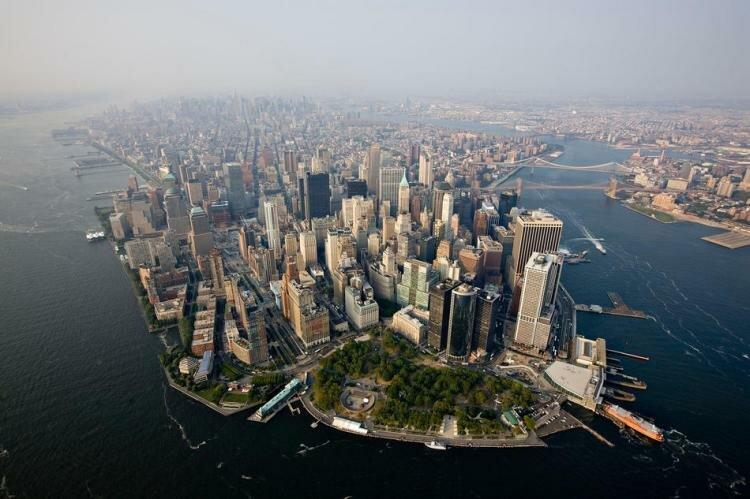 Виды Нью-Йорка с высоты птичьего полёта. Фото 1