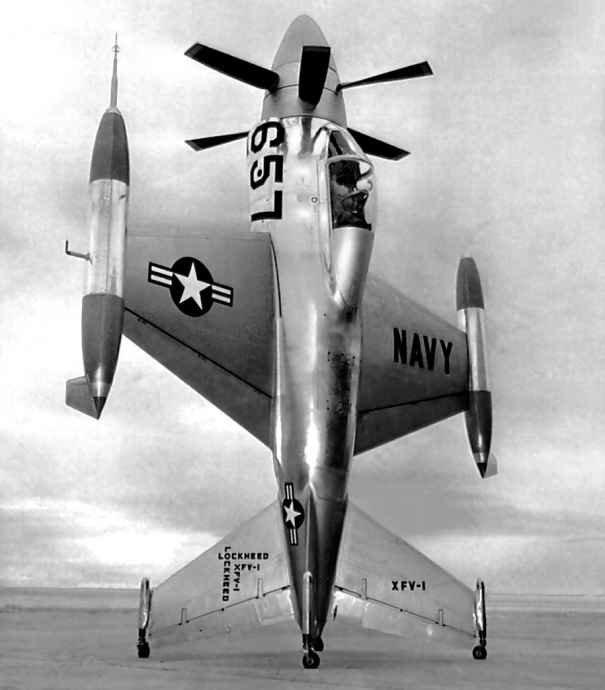 Взлет с хвоста – экспериментальный истребитель LOCKHEED XFV-1 SALMON