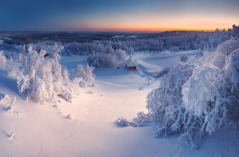 Закат над Уралом