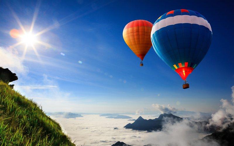 Заставки Воздушные шары высокого разрешения