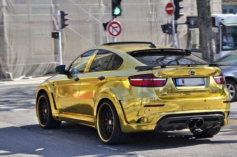 Золотой BMW X6 M от Hamann Tycoon