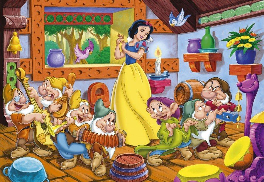 персонажи белоснежка и семь гномов в картинках удивилась, когда девушка