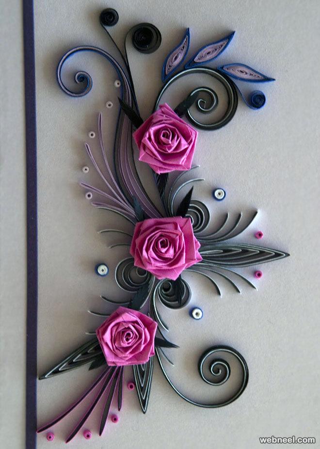 Вербным воскресеньем, розы открытки квиллинг