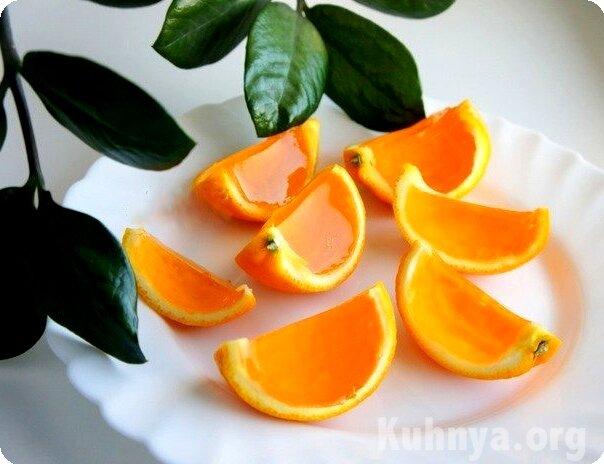 рецепт Желейные апельсинчики