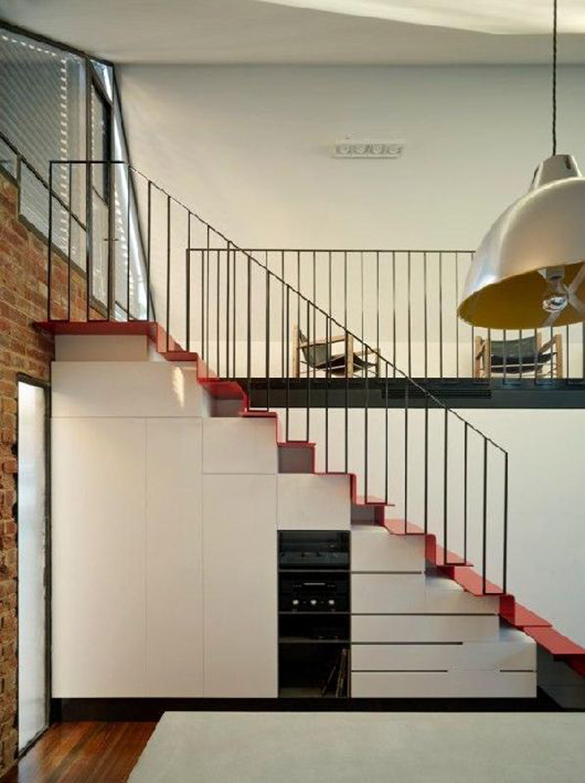 startling interior design of staircase